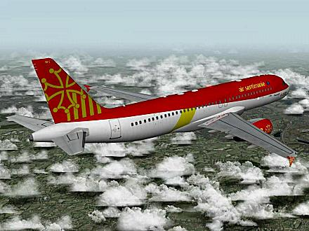 Download OCCITANIA livery for QPAC Airbus A320-232 - F-YMMC
