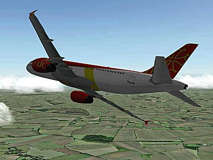 Download OCCITANIA livery for QPAC Airbus A320-232 - F-YMMR