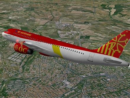 Download OCCITANIA livery for QPAC Airbus A320-232 - F-YMMX